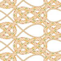 Nahtloses Muster mit dem Seilverbiegen.