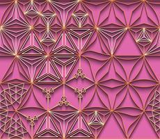Polygonlinie und nahtloser Hintergrund. vektor