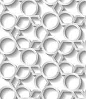 Seamless abstrakt geometriska mönster, prame gräns futuristiska tapeter, 3d grå kakel yta. vektor