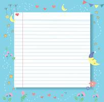 süß und liebevoll Papier Linie Vektor Hintergrund, detaillierte Liniertes Papier Textur