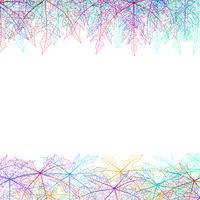 Leaves skelett abstrakt och bakgrund. vektor