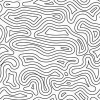 Abstraktes Gelände mit schwarzer Linie auf nahtlosem Hintergrunddesign.