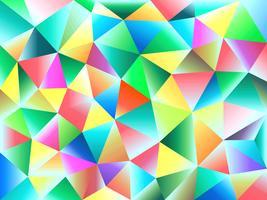 Bunter Polygonzusammenfassungshintergrund auf Vektorkunst. vektor