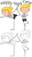 Mädchen, das Yogadesign tut