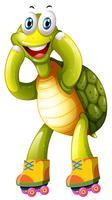 Eine Schildkröte, die ro spielt vektor
