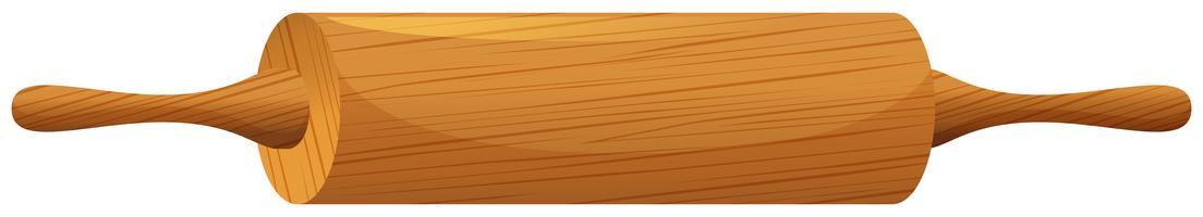 Rollenstift aus Holz vektor