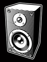 vintage ljud högtalare vektor