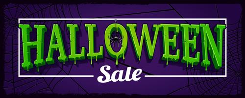 Halloween försäljning horisontell banner med spindelnät