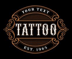 Tattoo logotyp mall. vektor