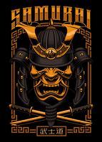 Samurai-Plakatgestaltung vektor