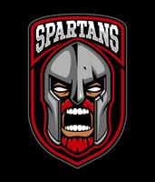 Spartansk krigare logo design. vektor