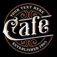 Cafe vintage bokstäver design.