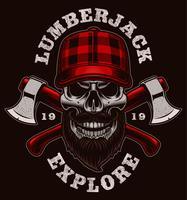 Lumberjack skalle vektor illustration