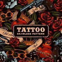 Old school tatuering sömlösa mönster.