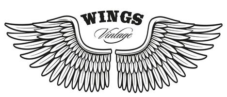Weinlese wings_2 vektor