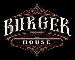 Vintage etikett av burger.