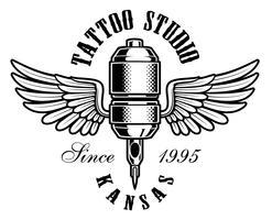 tatuering maskin logo