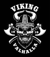 Vikingskalle med axlar