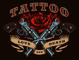 Pistolen und Rosen (Farbversion)