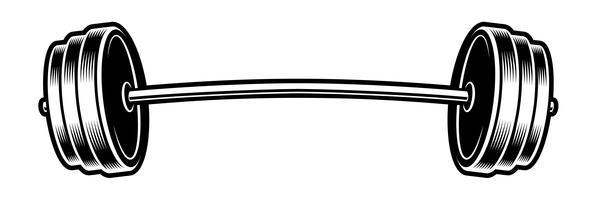 Schwarzweißabbildung eines Barbell vektor