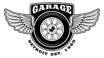 Badge av motorcykel med vingar