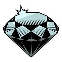 Vektorabbildung des Diamanten. vektor