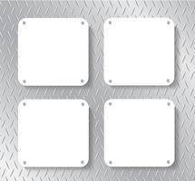 Metallplatte und Platz für Hintergrund schreiben