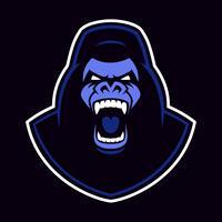 Vektoremblem eines Gorillamaskottchens
