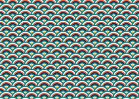 Seamless mönster av färgstark kinesisk våg bakgrund - Vektor illustration
