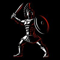 Spartanischer Krieger vektor