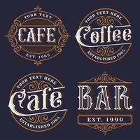 Set Vintage-Embleme für die Gastronomie.