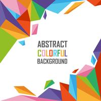 Abstrakt färgrik av geometrisk polygonbakgrund vektor