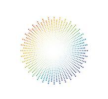 Abstrakt färgstark regnbåge prickmönster bakgrund - Vektor illustration