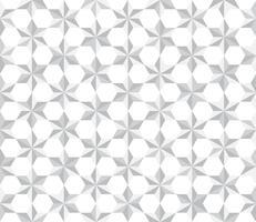 Weiß des nahtlosen Musters spielt Polygonhintergrund die Hauptrolle - Vector Illustration