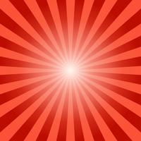 Abstrakt solstrålar röda strålar bakgrund - Vektor illustration