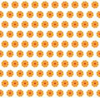 Vector Illustration des orange Farbhintergrundes der abstrakten nahtlosen Blumen
