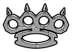 logotyp för mässingsknoppar vektor