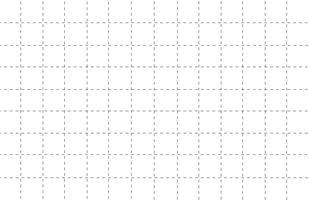 gestrichelte Linie Raster Papier mit weißem Hintergrundmuster vektor