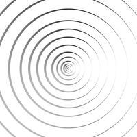 Abstrakt koncentriska cirklar geometrisk linje bakgrund - Vektor illustration