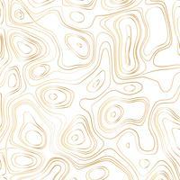 Abstrakte Goldlinie Wellen entwerfen auf weißem Hintergrund - Vector Illustration
