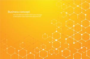 abstrakter Hexagonhintergrund und -raum für schreiben vektor