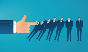 Domino-Effekt-Geschäftskonzept