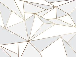 Künstlerisches geometrisches des abstrakten weißen Polygons mit Goldlinie Hintergrund vektor