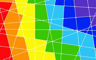 Abstrakt regnbåge geometrisk mosaik bakgrund - Vektor illustration