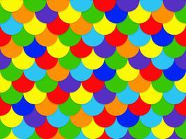Abstrakt sömlös överlappande regnbåge cirkel mönster bakgrund - Vektor illustration