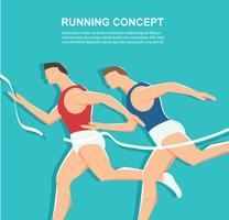 sidovy av löpande bakgrund, hälsokänsla vektor