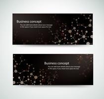 Set Molekül Hintergrund genetische und chemische Verbindungen Medizintechnik oder wissenschaftliche für Website-Header Banner-Designs