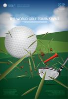 Plakat-Golf-Meisterschafts-Vektor-Illustration