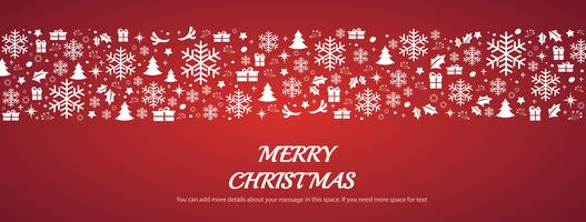 Jul hälsningskort med utrymme mönster bakgrund vektor