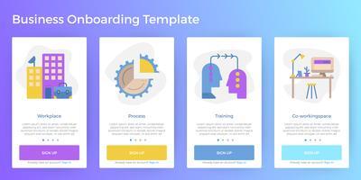 Vorlage für Business Mobile App Onboarding vektor
